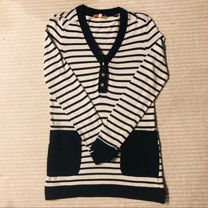 Tory Burch Striped Wool Blend Sweater sz S
